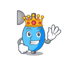 King ambu bag mascot cartoon vector