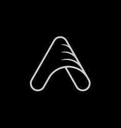 letter a initial logo design inspiration vector image