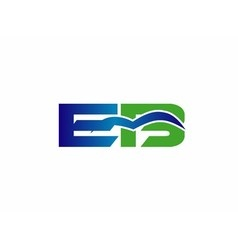 Letter E and B logo vector image