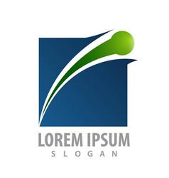 logo concept design square orbit symbol graphic vector image