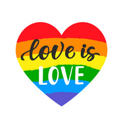 Love is inspirational gay pride poster vector