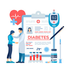 Medical diagnosis - diabetes mellitus type 2 vector