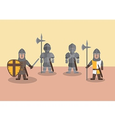 Medieval soldier flat graphic vector