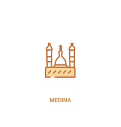 Medina concept 2 colored icon simple line element vector