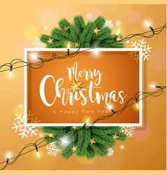 merry christmas on brown vector image