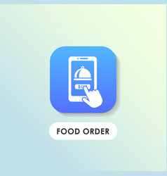 modern food order icon design vector image
