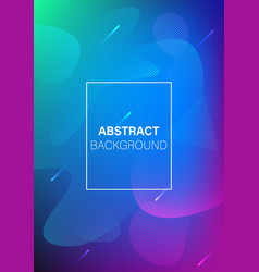 modern futuristic abstract dynamic cover vector image