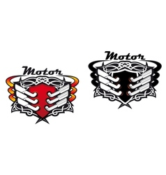 Motor sports icons vector image