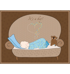 Newborn baby card vector