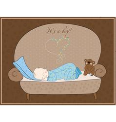 newborn bacard vector image