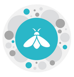 Of zoo symbol on bee icon vector