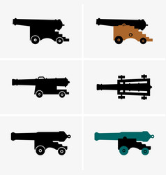 Old cannons vector