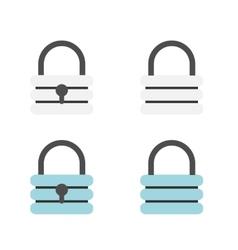 Padlock flat icons vector