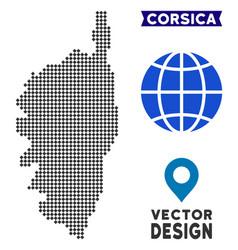 Pixelated corsica france island map vector