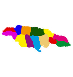 Political map jamaica vector
