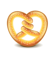 Pretzel isolated on white vector image vector image