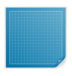 project blueprint paper isolated paperwork icon vector image