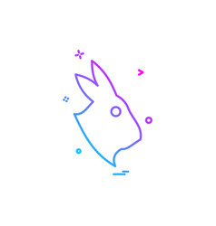 rabbit icon design vector image