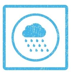 Rain Cloud Icon Rubber Stamp vector