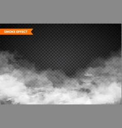 Realistic fog mist effect smoke isolated on vector