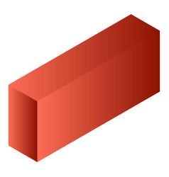 red tea box icon isometric style vector image