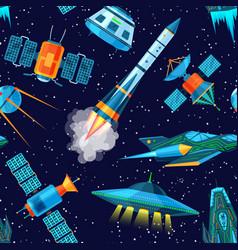 Rocket spaceship or spacecraft vector