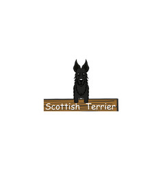 Scottish terrier cartoon dog icon vector