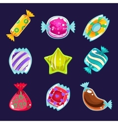 Set of colorful glossy candies vector image vector image