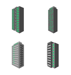 Set of modern multi-storey building with a vector
