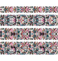 set vintage border brushes templates baroque vector image