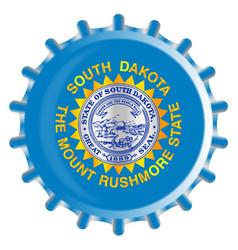 South dakota bottle cap vector