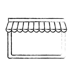 Store structure icon vector