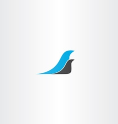 two birds logo design element vector image