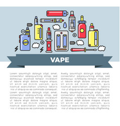 Vape zone internet shop promotional poster with vector