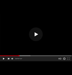 video player in flat style interface video and vector image