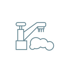 water supply system linear icon concept water vector image