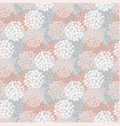 White and rose floral seamless pattern vector
