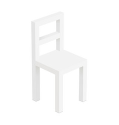 White small chair mockup vector