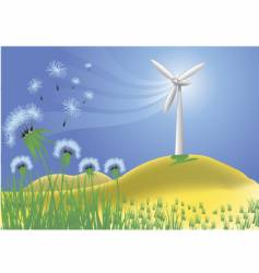 wind power vector image