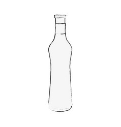 wine bottle drink vector image