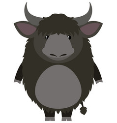 yak with happy face vector image