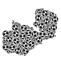 Zambia map collage of soccer spheres vector
