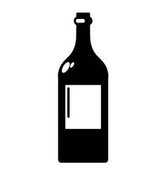 alcohol bottle icon simple style vector image vector image