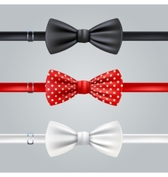 Bow Ties Realistic Set vector image vector image