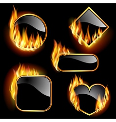 flaming frames vector image vector image