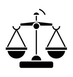 law and justice - scales icon vector image vector image