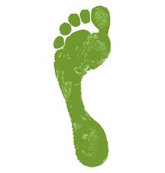 Man footprint vector image vector image