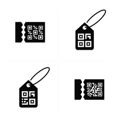 qr code on price icon vector image