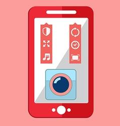 Smartphone camera app selfie icon vector image