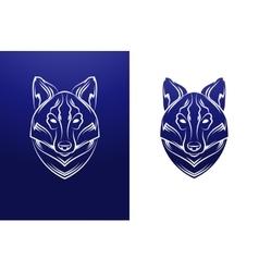 Vintage wolf label Retro design graphic vector image